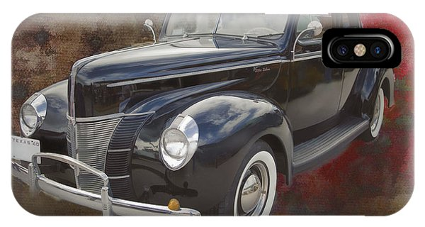 1940 Ford Deluxe Photograph Of Classic Car Painting In Color 319 IPhone Case