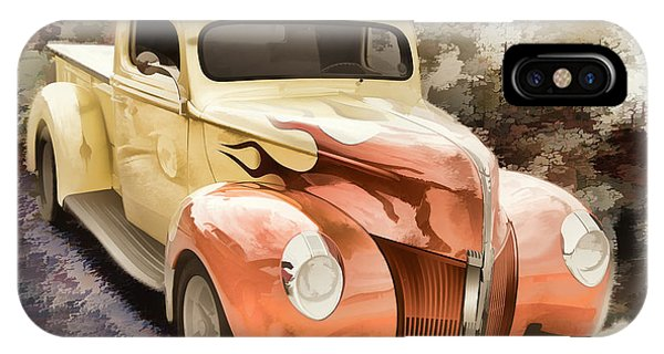 1940 Ford Pickup Truck Painting Car Or Automobile In Color  3133 IPhone Case