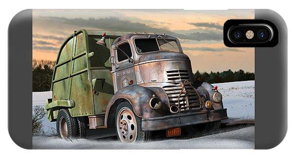 1940 Gmc Garbage Truck IPhone Case