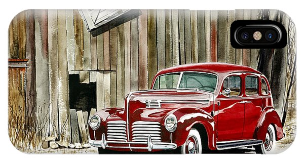1940 Hudson And Barn Phone Case by Rick Mock