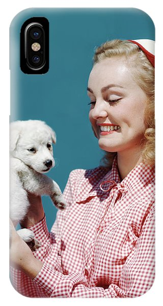 1940s 1950s Portrait Smiling Blond Teen IPhone Case