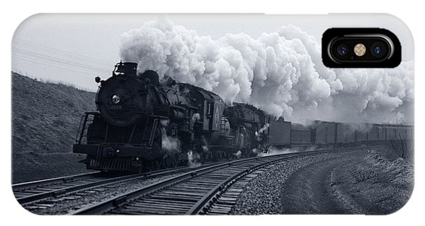 Jervis iPhone Case - 1940s 1950s Speeding Steam Locomotive by Vintage Images