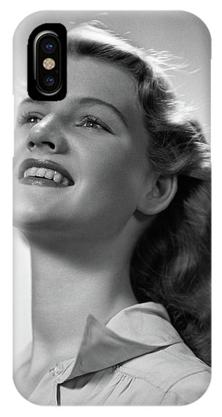 1940s Smiling Portrait Young Blonde IPhone Case