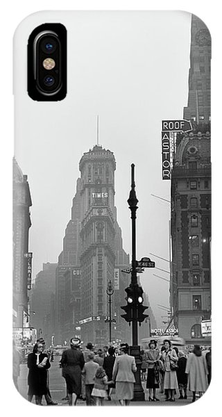 1940s Times Square At Twilight Night IPhone Case