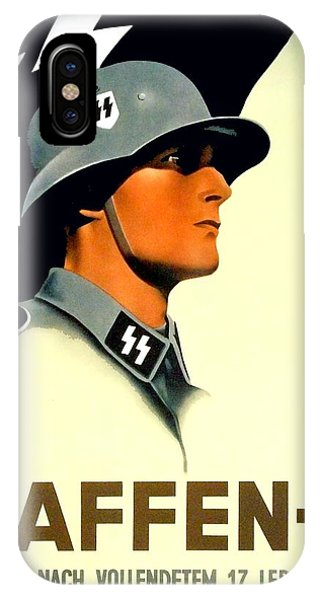 1941 - German Waffen Ss Recruitment Poster - Nazi - Color IPhone Case