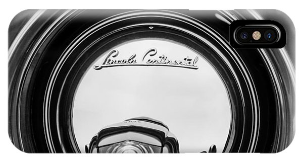Lincoln Continental iPhone Case - 1941 Lincoln Continental Spare Tire Emblem - 1963bw by Jill Reger