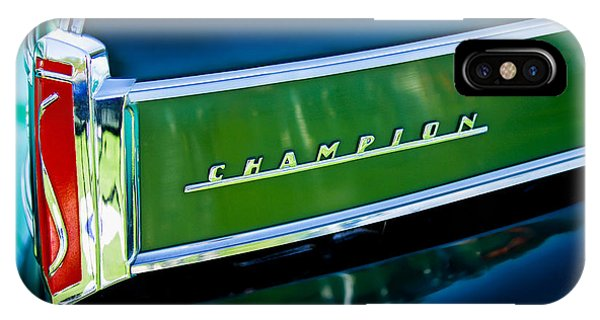 Coupe iPhone Case - 1941 Sudebaker Champion Coupe Emblem by Jill Reger