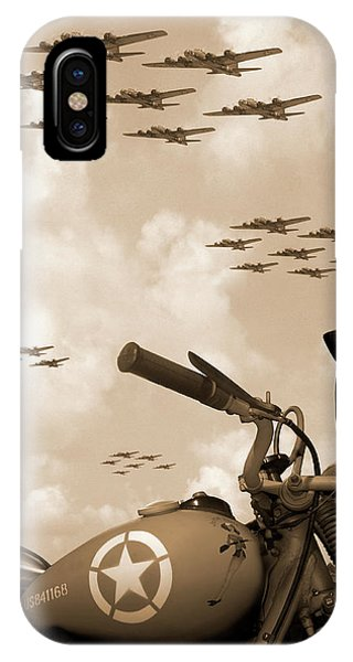 Airplanes iPhone Case - 1942 Indian 841 - B-17 Flying Fortress' by Mike McGlothlen