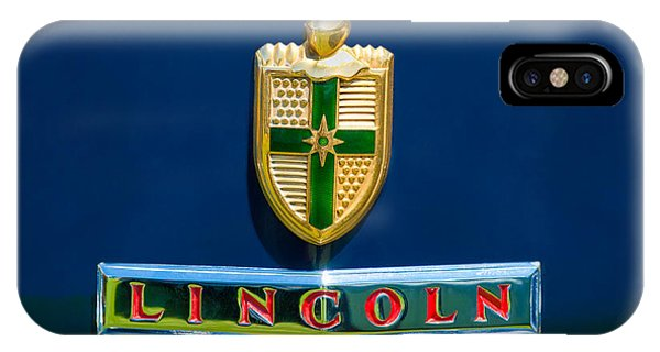 Lincoln Continental iPhone Case - 1942 Lincoln Continental Cabriolet Emblem by Jill Reger