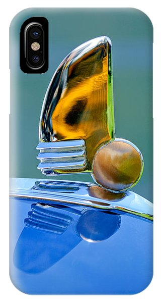 Lincoln Continental iPhone Case - 1942 Lincoln Continental Cabriolet Hood Ornament by Jill Reger