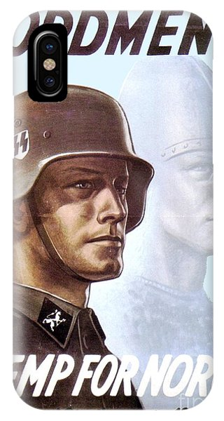 1943 - German Waffen Ss Recruitment Poster - Norway - Color IPhone Case