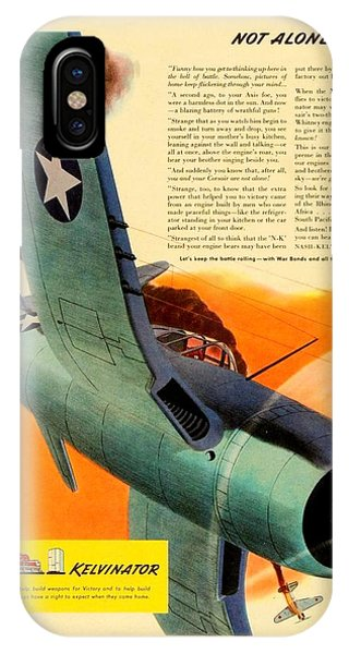 1943 - Nash Kelvinator Advertisement - Corsair - United States Navy - Color IPhone Case