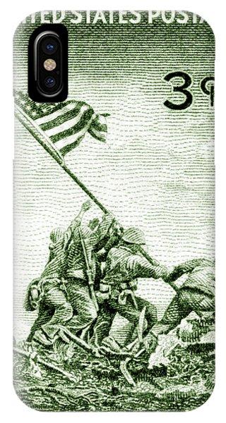 1945 Marines On Iwo Jima Stamp IPhone Case
