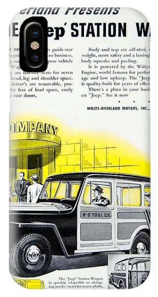 1946 - Willys Overland Jeep Station Wagon Advertisement - Color IPhone Case