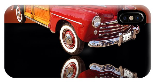 Auto Show iPhone Case - 1947 Ford Woody by Jim Carrell