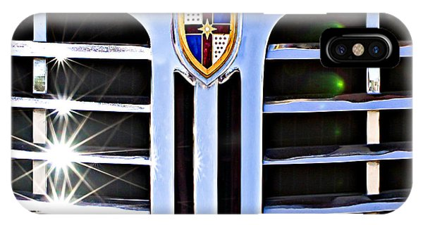 Lincoln Continental iPhone Case - 1948 Lincoln Continental Grille Emblem by Jill Reger
