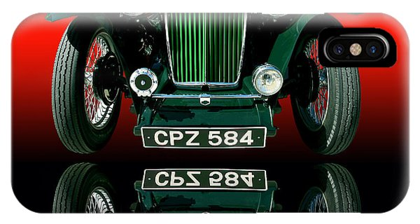 Auto Show iPhone Case - 1948 Mg Tc Roadster by Jim Carrell