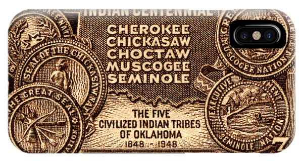 1948 Oklahoma Indian Centennial Stamp  IPhone Case