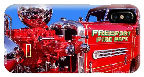 1949 Ahrens Fox Piston Pumper Fire Truck IPhone Case