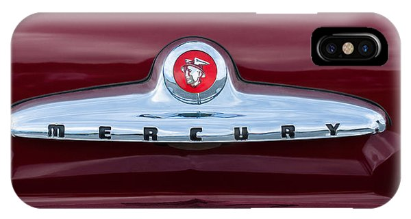 Coupe iPhone Case - 1949 Mercury Coupe Emblem by Jill Reger
