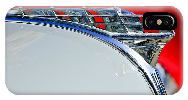 Coupe iPhone Case - 1950 Plymouth Hood Ornament 3 by Jill Reger