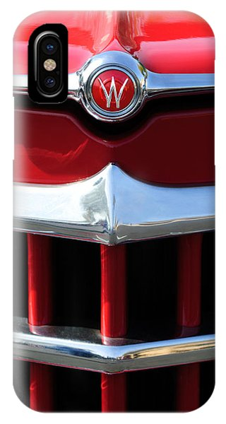 1950 Willys Overland Jeepster Hood Emblem IPhone Case
