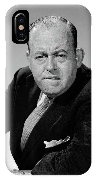 1950s 1960s Portrait Of Man Businessman IPhone Case