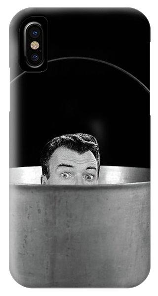 1950s 1960s Symbolic Montage Portrait IPhone Case