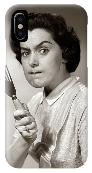 1950s-60s Portrait Of Angry Housewife IPhone Case