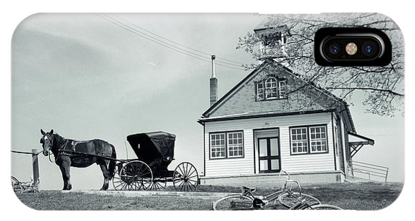 Amish Country iPhone Case - 1950s Amish One-room Schoolhouse At Top by Vintage Images