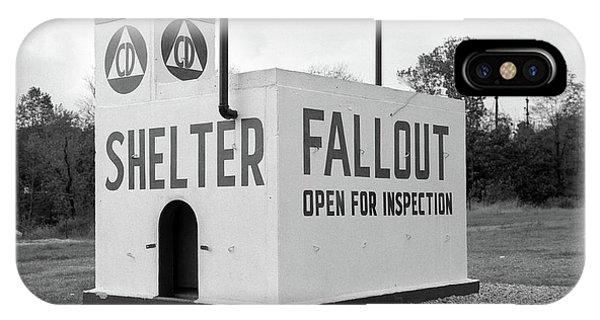 1950s Civil Defense Fallout Shelter IPhone Case