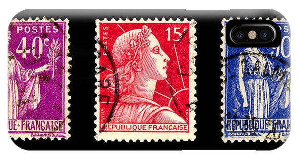 1950s French Postage Triptych IPhone Case