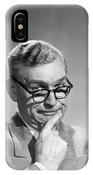 1950s Portrait Middle-aged Older Man IPhone Case