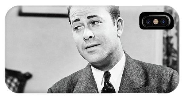 1950s Portrait Of Man Inside Living IPhone Case
