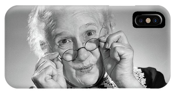 1950s Portrait Of Smiling Old Lady IPhone Case