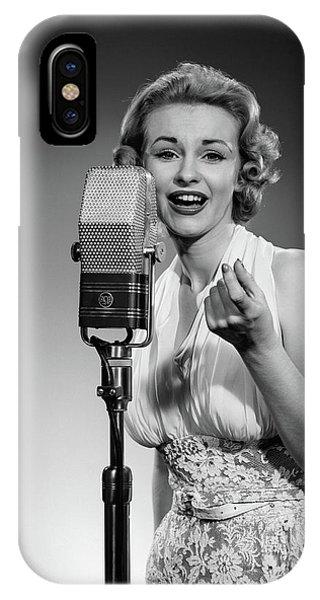 1950s Portrait Woman Entertainer IPhone Case