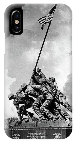 1950s Usmc War Memorial Iwo Jima 1945 IPhone Case