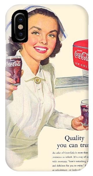 1952 - Coca-cola Advertisement - Color IPhone Case
