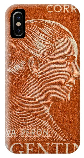 1952 Eva Peron Argentina Stamp IPhone Case