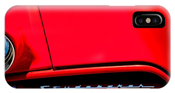 Coupe iPhone Case - 1953 Studebaker Coupe Grille Emblem by Jill Reger