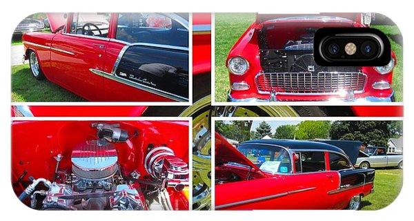 1955 Chevrolet Sedan Collage IPhone Case
