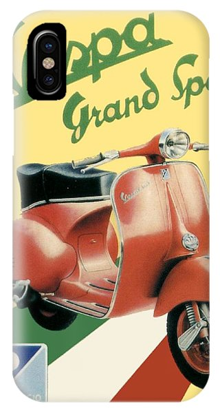 1955 - Vespa Grand Sport Motor Scooter Advertisement - Color IPhone Case