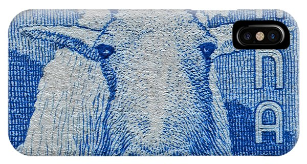 1956 Canada Mountain Goat Stamp IPhone Case