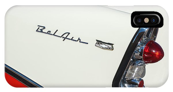 Coupe iPhone Case - 1956 Chevrolet Belair Coupe Taillight by Jill Reger