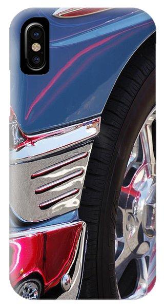 Wagon Wheel iPhone Case - 1956 Chevrolet Handyman Wagon Wheel -179c by Jill Reger