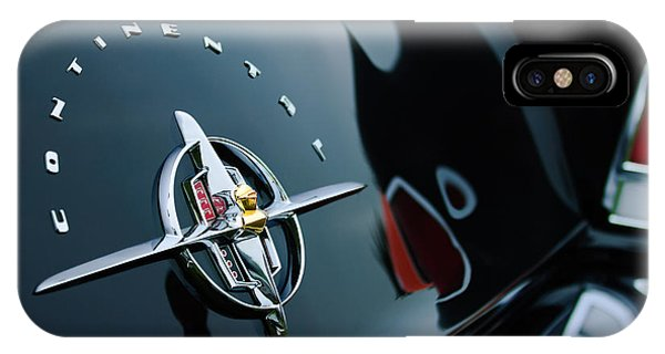 Lincoln Continental iPhone Case - 1956 Lincoln Continental Mark II Coupe Rear Emblem by Jill Reger
