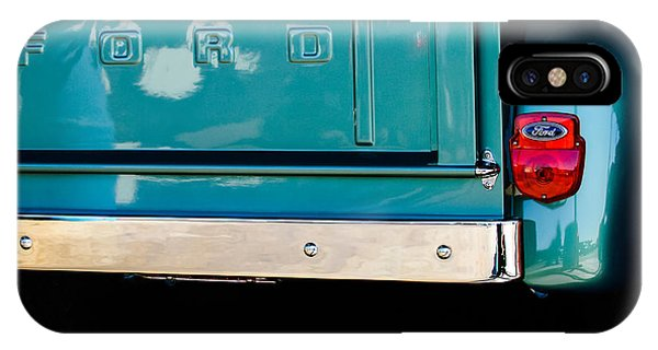100 iPhone Case - 1956 Ford F-100 Truck Taillight 2 by Jill Reger