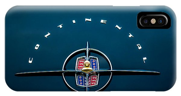 Lincoln Continental iPhone Case - 1956 Lincoln Continental Mark II Coupe Emblem by Jill Reger