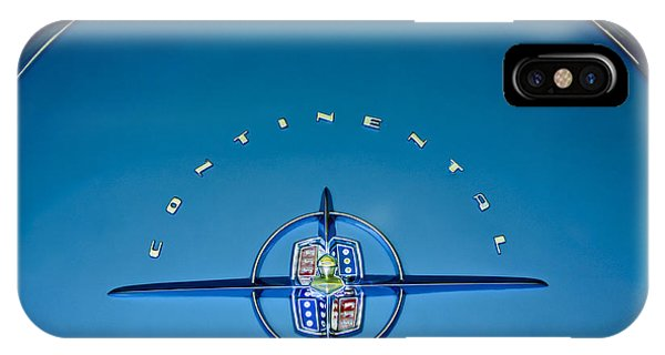 Lincoln Continental iPhone Case - 1956 Lincoln Continental Mark II Emblem by Jill Reger