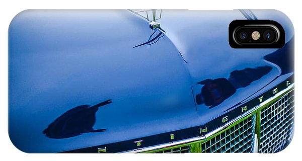 Lincoln Continental iPhone Case - 1956 Lincoln Continental Mark II Hess And Eisenhardt Convertible Grille Emblem - Hood Ornament by Jill Reger